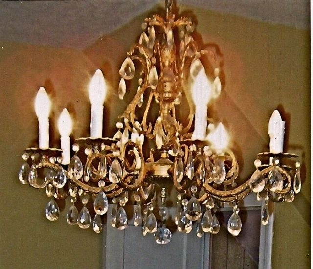 Brass And Crystal Chandeliers With Most Up To Date Brass Crystal Chandelier – Antique French Style Brass Chandelier (View 1 of 10)