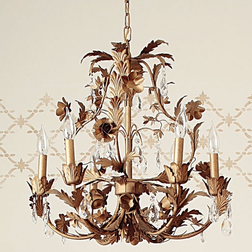 Cadence Gold Leaf Chandelier And Nursery Necessities In Interior With Well Known Gold Leaf Chandelier (View 5 of 10)