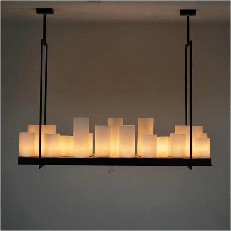 Candle Chandelier With Most Up To Date European Style Rectangle Modern Candle Decorative Modern Chandelier (View 4 of 10)