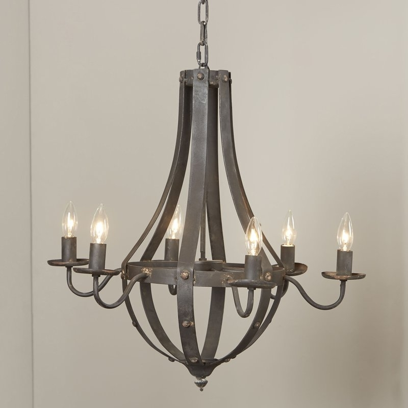 Candle Light Chandelier With Regard To Well Known Birch Lane™ Foulds 6 Light Candle Style Chandelier & Reviews (View 6 of 10)