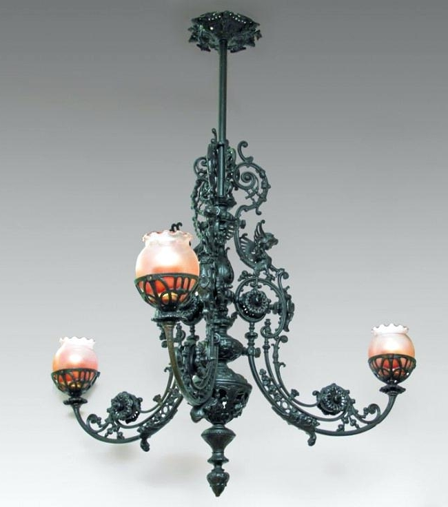 Featured Photo of Cast Iron Antique Chandelier