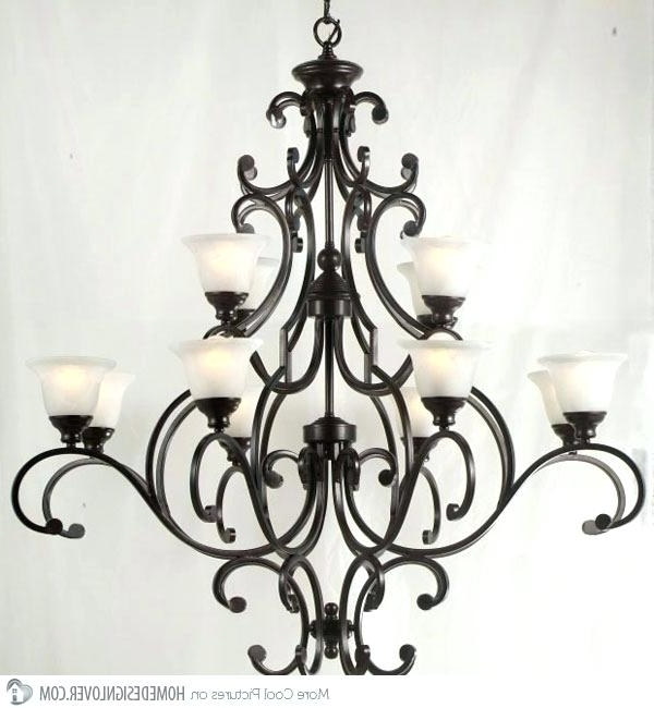 Cast Iron Antique Chandelier Pertaining To Current Light: Cast Iron Ceiling Light Chandelier Marvellous Wrought (View 5 of 10)