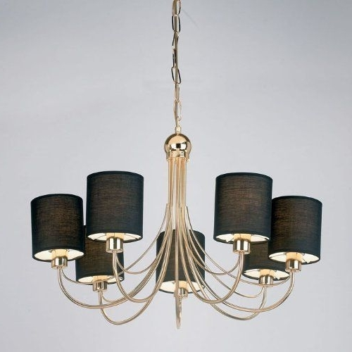 Ceiling Lighting, Drop In Chandeliers With Black Shades (View 6 of 10)