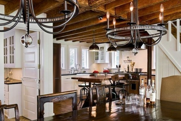 Ceiling Lights Over Kitchen Table Using Modern Wrought Iron Pertaining To Popular Modern Wrought Iron Chandeliers (View 3 of 10)