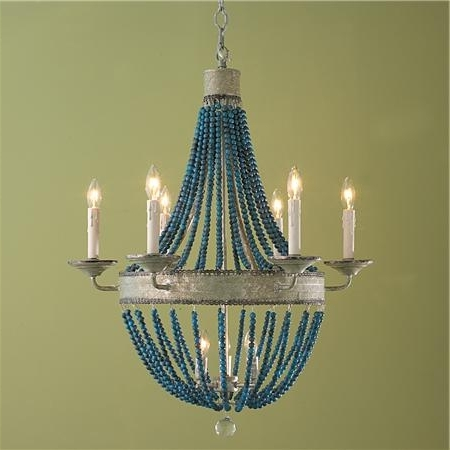 Cerulean, Chandeliers Intended For Latest Turquoise Blue Beaded Chandeliers (View 7 of 10)