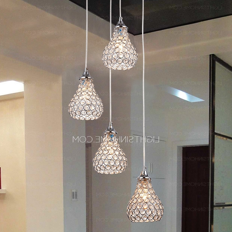 Chandelier Bathroom Ceiling Lights With Regard To Recent Multi Light Pendant, Multi Pendant Lighting (View 9 of 10)