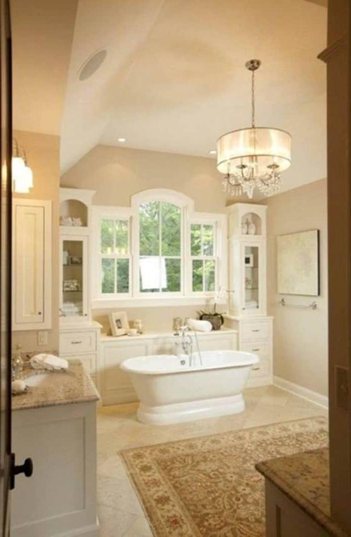 Featured Photo of Chandelier Bathroom Lighting Fixtures
