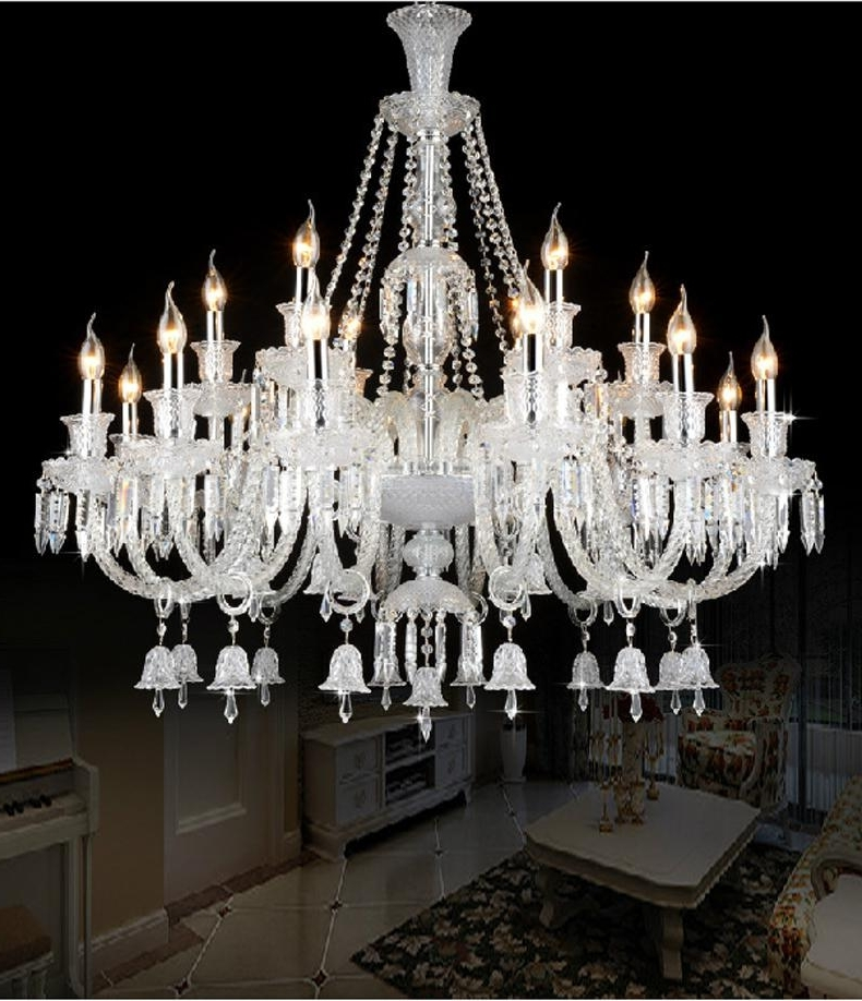 Chandelier For Restaurant With Most Popular Luxury Large Modern Crystal Chandelier Lights Glass Arms Candle (View 4 of 10)