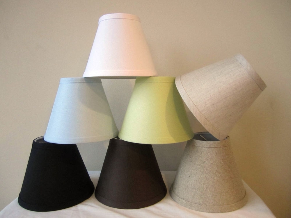 "Chandelier Lamp Shades Clip On Regarding Well Known Urbanest Linen Mini Chandelier Lamp Shade, Clip On, Hardback, 3""x  (View 5 of 10)"
