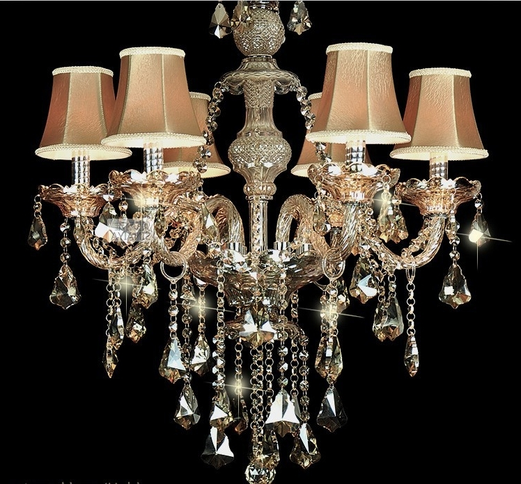 Chandelier Lamp Shades Plus Beaded Lamp Shades Plus Brown Lamp Shade In 2017 Chandeliers With Lamp Shades (View 3 of 10)