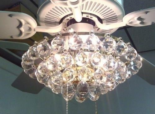 Chandelier Light Fixture For Ceiling Fan Within Best And Newest White Ceiling Fan With Chandelier Light – Ceiling Fan With (View 5 of 10)