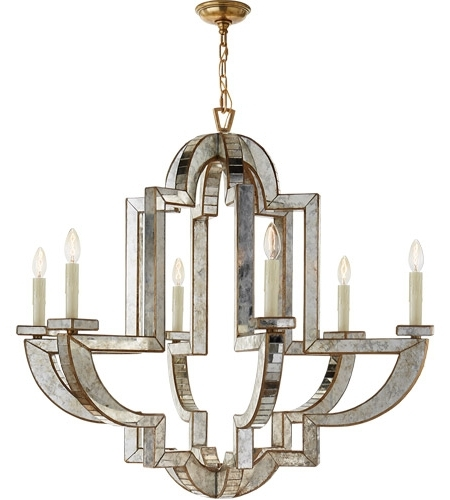 Chandelier Mirror With 2017 Visual Comfort Nw5041Am/hab Niermann Weeks Lido 6 Light 38 Inch (View 8 of 10)