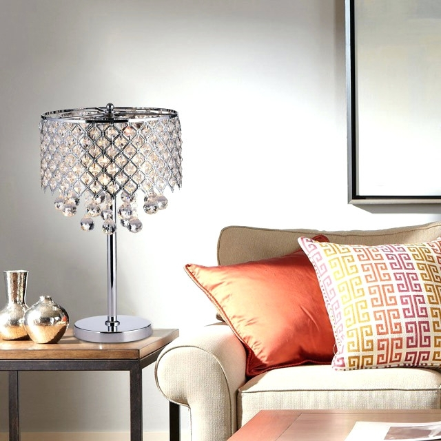 Chandelier Night Stand Lamps For Famous Chandeliers ~ Chandelier Bedside Lamps Uk Chrome Round Crystal (View 2 of 10)
