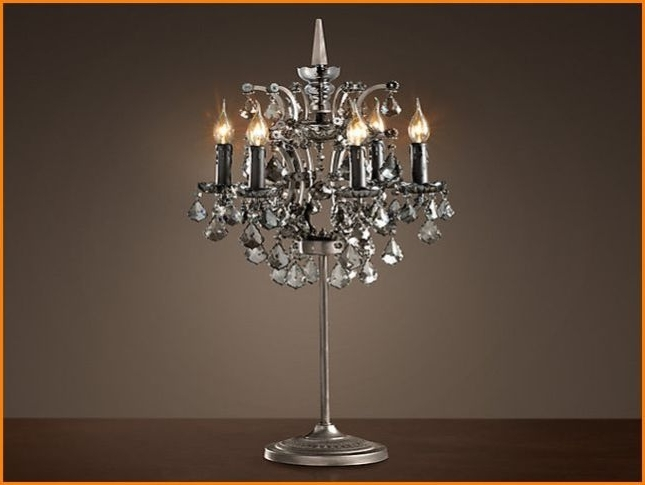 Chandelier Night Stand Lamps Intended For Widely Used Brilliant Attractive Chandelier Table Lamp Chandelier Table Lamp (View 4 of 10)
