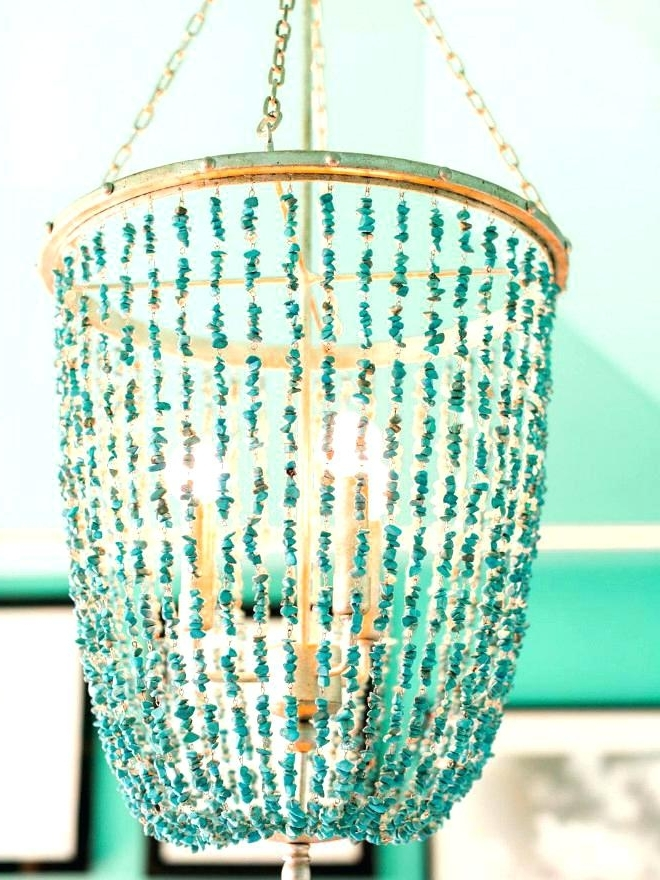 Chandelier Turquoise Aqua Chandelier Turquoise Chandelier Uk Regarding Favorite Small Turquoise Beaded Chandeliers (View 1 of 10)