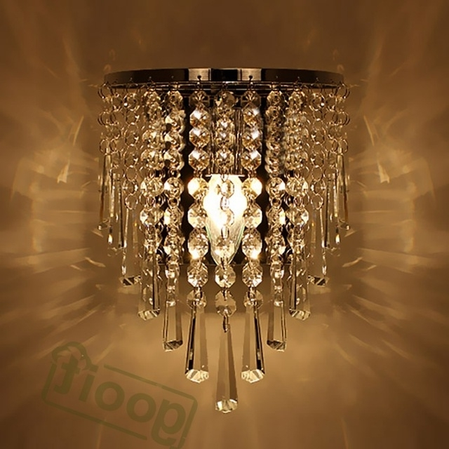 Chandelier Wall Lights With Most Popular Modern Crystal Chandelier Wall Light Lighting Fixture 220V E14 Led (View 3 of 10)