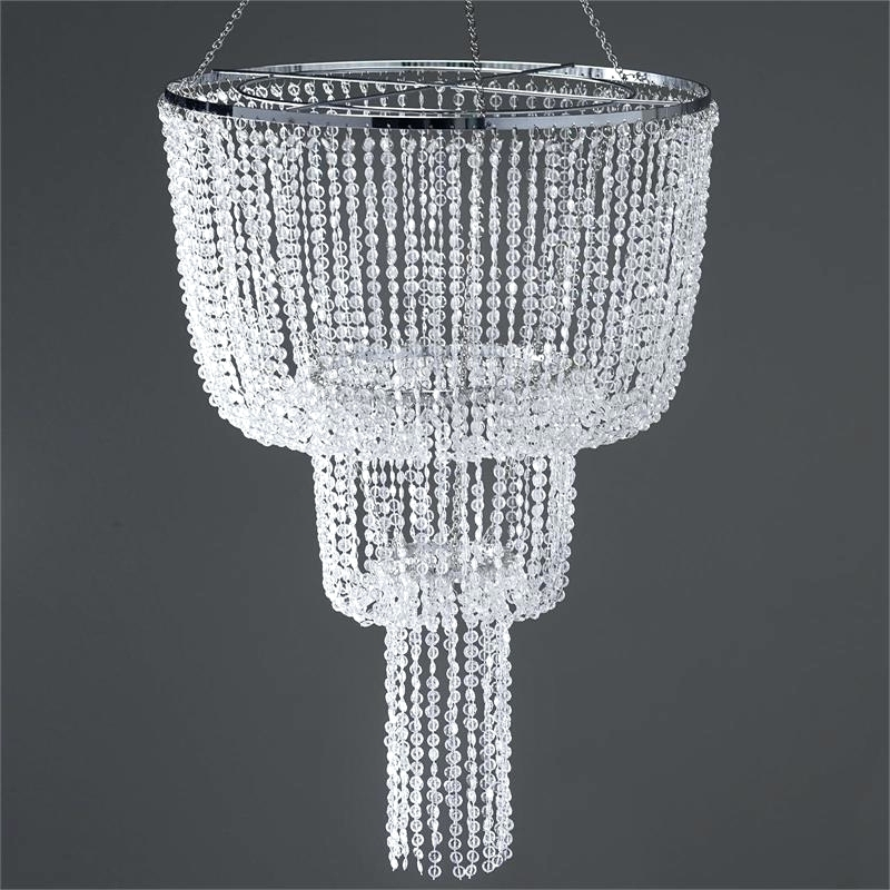Chandeliers ~ Faux Crystal Chandelier Table Lamp 26 Long Faux Within Most Recently Released Faux Crystal Chandelier Centerpieces (Gallery 7 of 10)