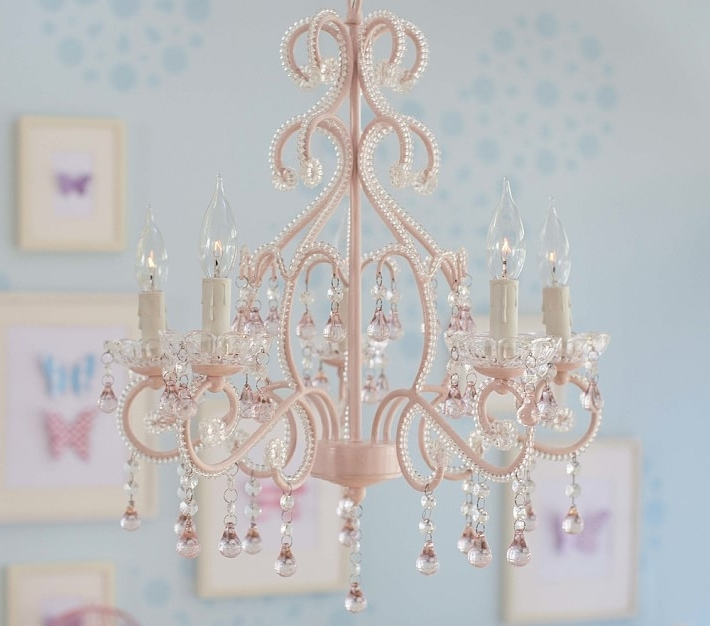 Chandeliers For Kids With Regard To Most Recent Pink Lydia Chandelier (View 3 of 10)
