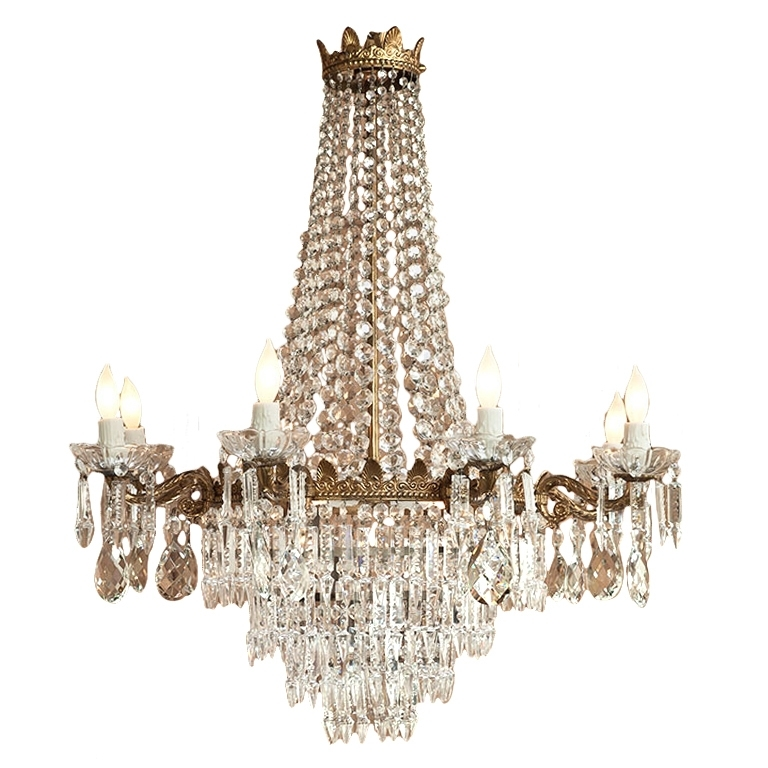 Chandeliers Vintage Inside Widely Used Vintage Crystal Chandelier Antique Crystal Chandelier Parts Edrexco (View 1 of 10)