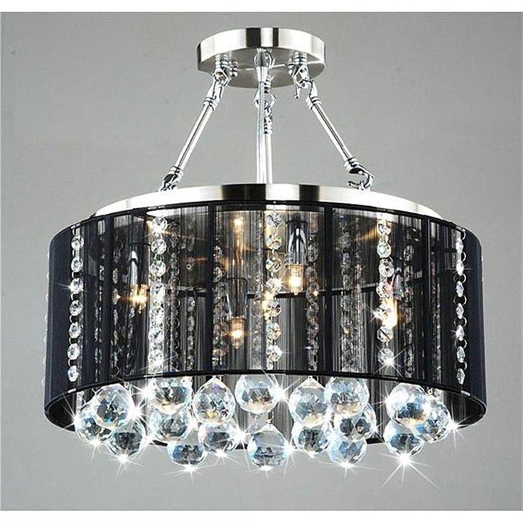 Chandeliers With Black Shades For Well Known Bryony Chrome Light Chandelier Chandeliers Lights And Living Part (View 4 of 10)