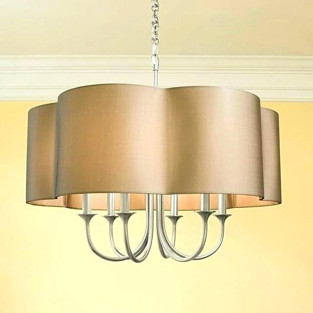 Chandeliers With Lamp Shades With 2018 Inspirational Lamp Shade Chandelier And Ideas Mini Lamp Shades For (View 6 of 10)
