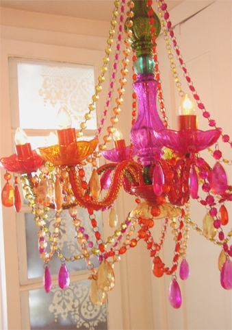 Chandeliers With Pink Plastic Chandeliers (View 4 of 10)