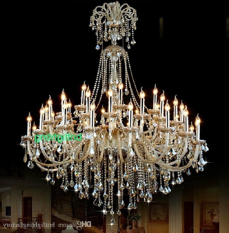 Cheap Big Chandeliers Inside Best And Newest Extra Large Crystal Chandelier Lighting Entryway High Ceiling (View 3 of 10)