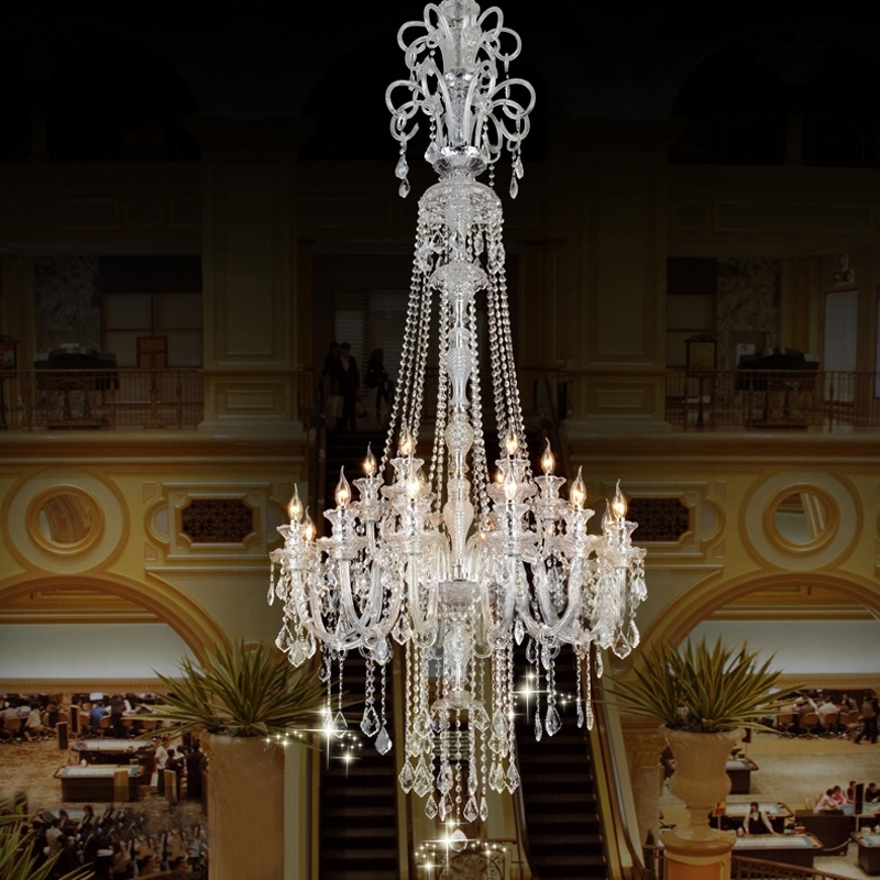 Cheap Big Chandeliers Throughout Most Recently Released Chandelier Large Luxury Modern – Closdurocnoir (View 4 of 10)