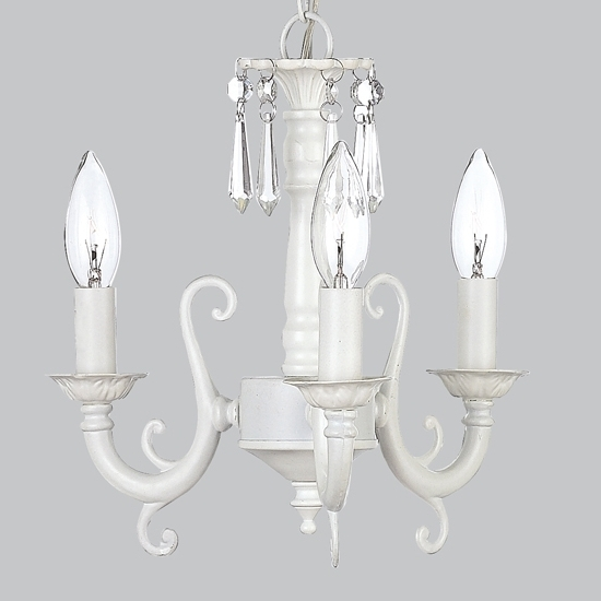 Chic Small White Chandelier Kids Crystal Light Mini Wonderful Within Well Known Small White Chandeliers (View 3 of 10)