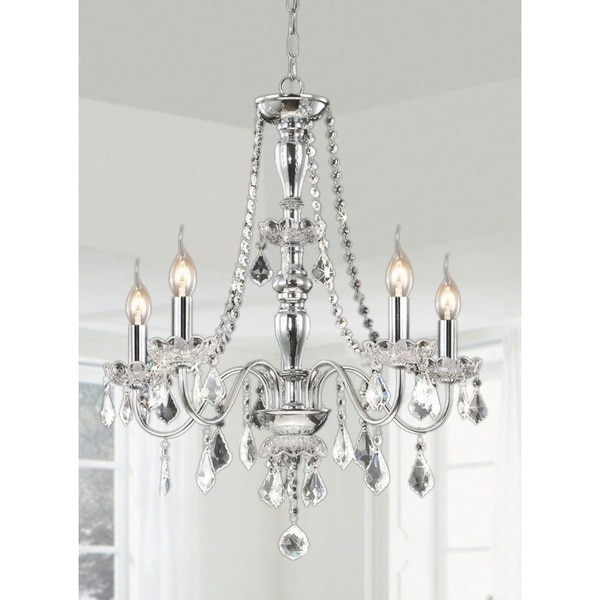 Chrome And Crystal Chandelier Pertaining To Most Recently Released Chrome Chandeliers – Heidi 4 Light Crystal Chandelier, Maria Theresa (View 4 of 10)