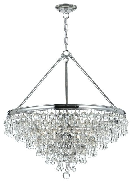 Chrome Chandelier Quorum 4 Bohemian 4 Light Inch Chrome Chandelier Within Most Popular Chrome Chandeliers (View 3 of 10)