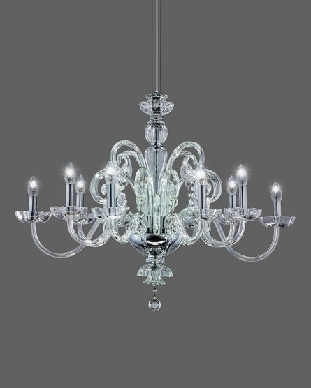 Chrome Crystal Chandelier For 2017 125/rl 10 Chrome Crystal Chandelier With Swarovski Spectra Crystal (View 2 of 10)