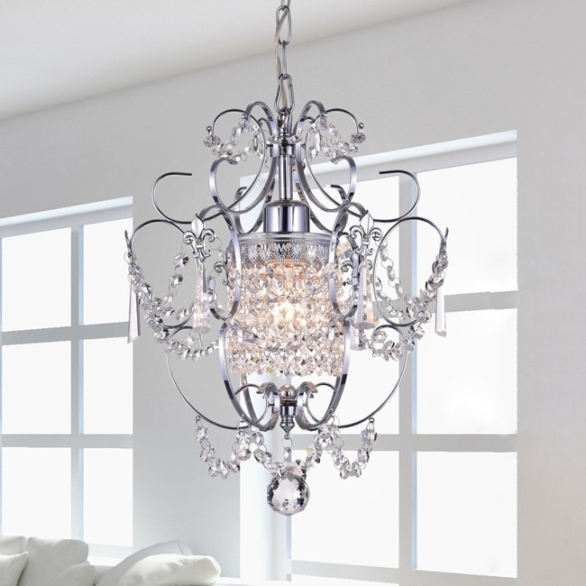 Chrome Crystal Chandelier In Most Current Chrome Crystal Chandelier – Free Shipping Today – Overstock (View 4 of 10)