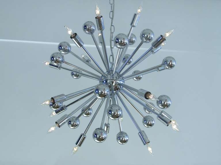 Chrome Sputnik Chandeliers With Regard To Most Up To Date Home Design : Endearing Chrome Sputnik Chandelier X Home Design (View 5 of 10)