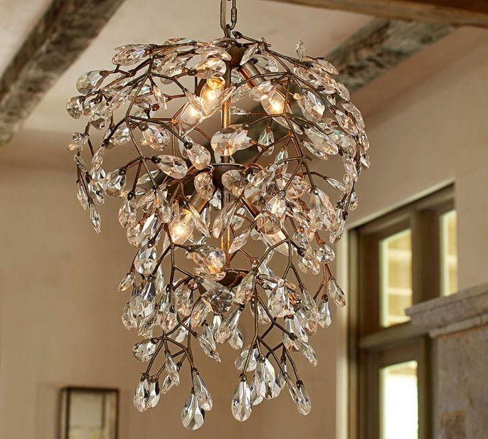 Clear Crystal Round Chandelier Regarding Favorite Branch Crystal Chandelier (View 3 of 10)
