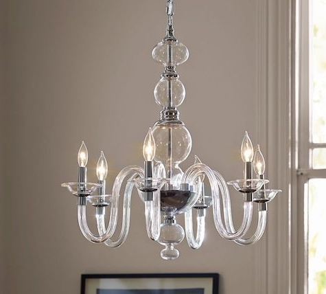 Clear Glass Chandeliers With Most Current Home Design : Amusing Clear Glass Chandelier Zspmed Of Shades Great (View 7 of 10)