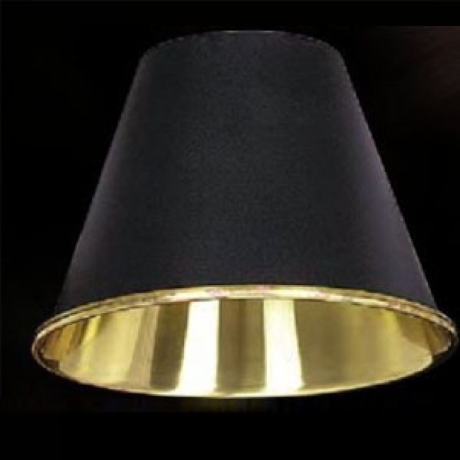 "Clip On Chandelier Lamp Shades Pertaining To Most Recently Released 5 3/8"" Black Metal Chandelier Clip On Lamp Shade Lcp (View 4 of 10)"