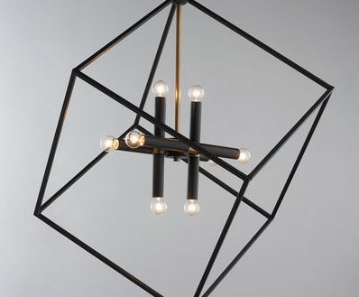Contemporary Black Chandelier Pertaining To Most Current Modern Black Chandelier Contemporary Chandeliers Shades Of Light (View 10 of 10)