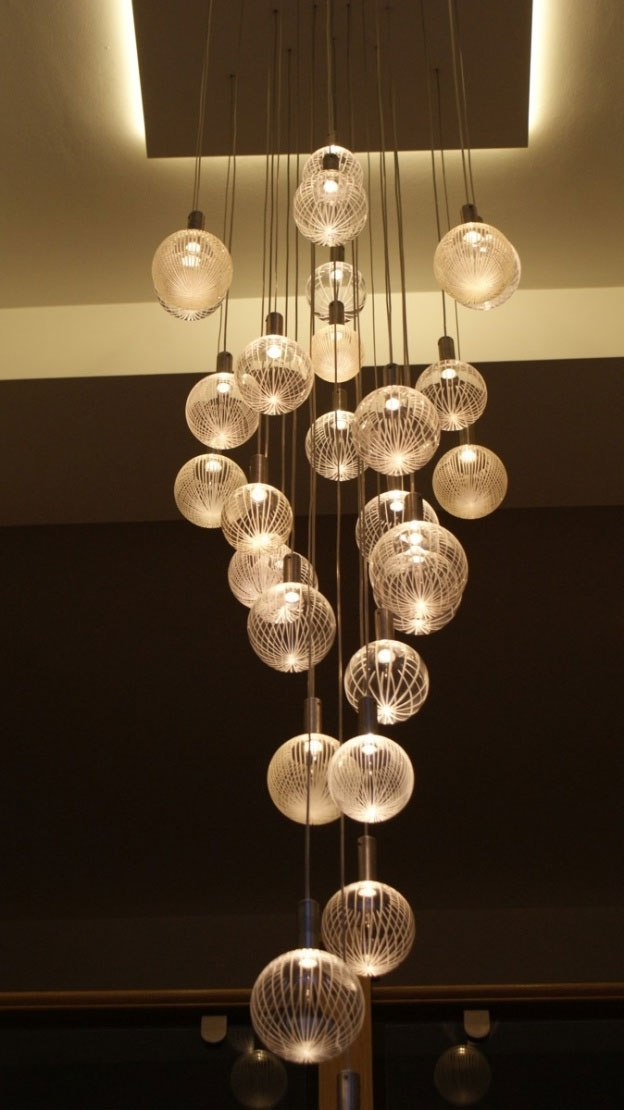 Contemporary Chandelier Company, Elements Glass Chandelier, Warm For Well Known Contemporary Chandelier (View 1 of 10)