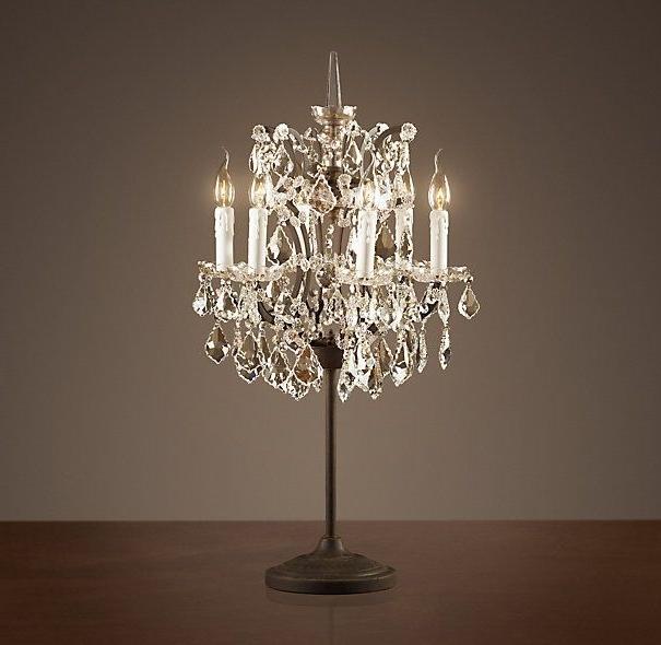 Cool Crystal Chandelier Table Lamp , Elegant Crystal Chandelier Regarding Newest Table Chandeliers (View 2 of 10)