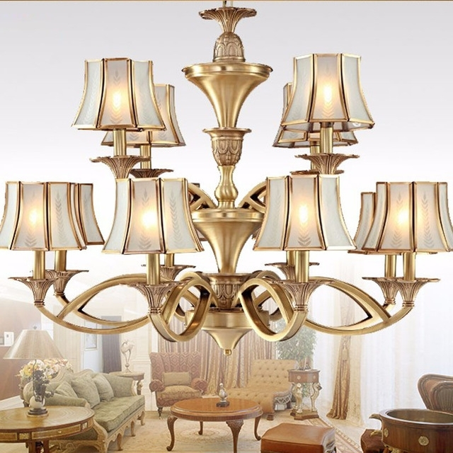 Copper Chandeliers Lighting Luxury Home Lighting Fixture Abajour Within Fashionable Copper Chandeliers (View 7 of 10)