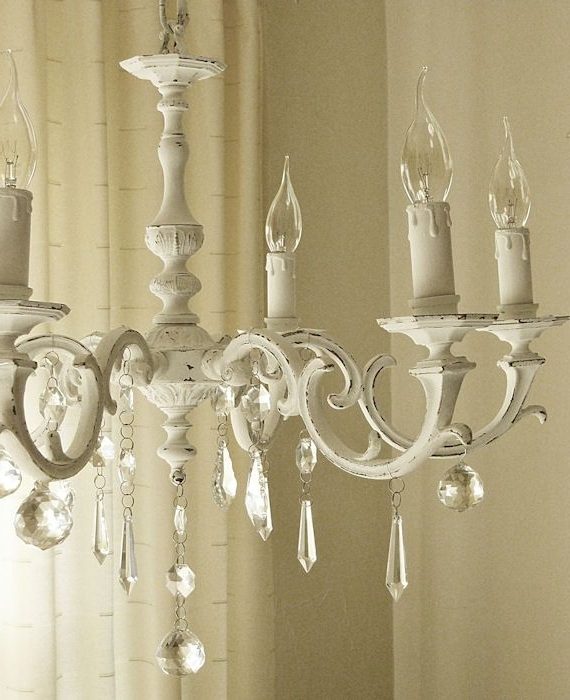 Country Chic Chandelier In Newest Shabby Chic Inspired: Ckhandelier Before And After (View 2 of 10)