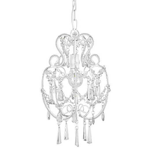 Cream Chandelier Lights Pertaining To Most Up To Date Modern Cream White Shabby Chic Chandelier Pendant Light Fitting With (View 7 of 10)