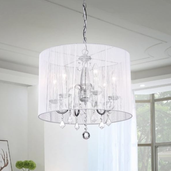 Cream Crystal Chandelier With Favorite Chrome And Cream 6 Light Crystal Chandelier ( Cream Crystal (View 3 of 10)