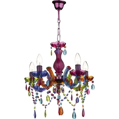 Create A Bold Style Statement In Your Home With This Colourful With Regard To Most Popular Colourful Chandeliers (View 6 of 10)