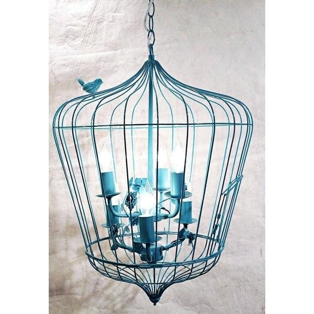 Creative Co Op Chandelier Creative Co Op Turquoise Birdcage Inside Widely Used Turquoise Birdcage Chandeliers (View 4 of 10)