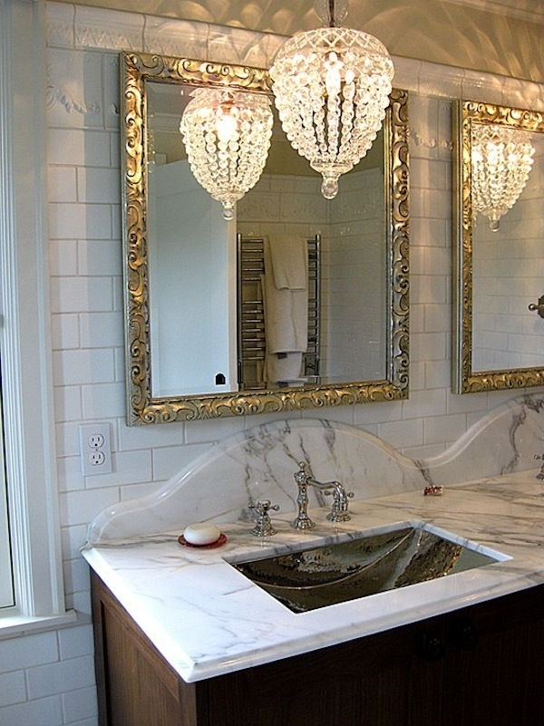 Crystal Bathroom Chandelier Pertaining To Most Recent Lighting Idea (View 7 of 10)