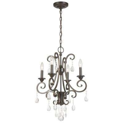 Crystal – Bronze – Chandeliers – Lighting – The Home Depot With Regard To Well Known Bronze And Crystal Chandeliers (View 10 of 10)
