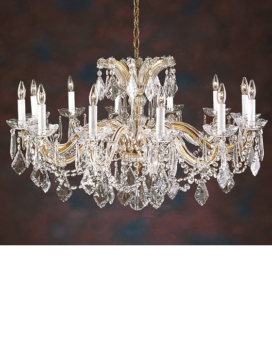 Crystal Chandelie And Maria Theresa Crystal Chandelier For Low Ceiling With Well Known Low Ceiling Chandeliers (View 1 of 10)