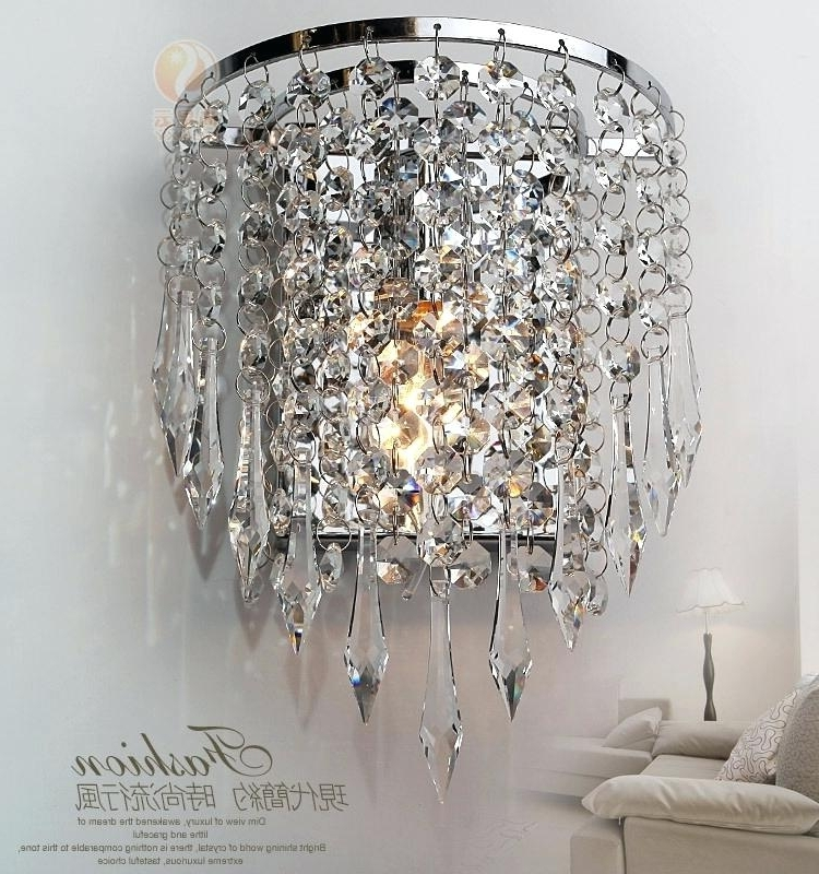 Crystal Chandelier Wall Lights Bed S Wall Mounted Lights Home Depot Intended For Favorite Wall Mount Crystal Chandeliers (View 2 of 10)